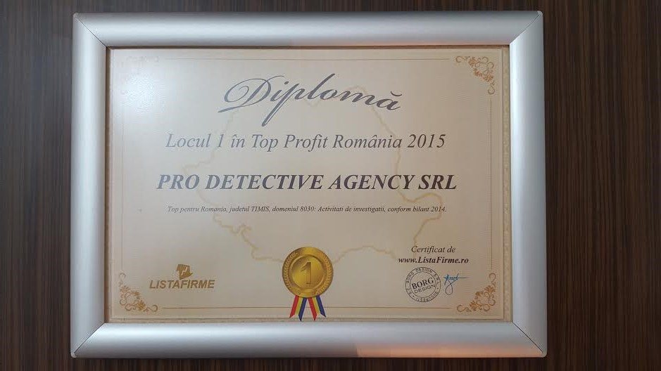 diploma pro detective agency 2015